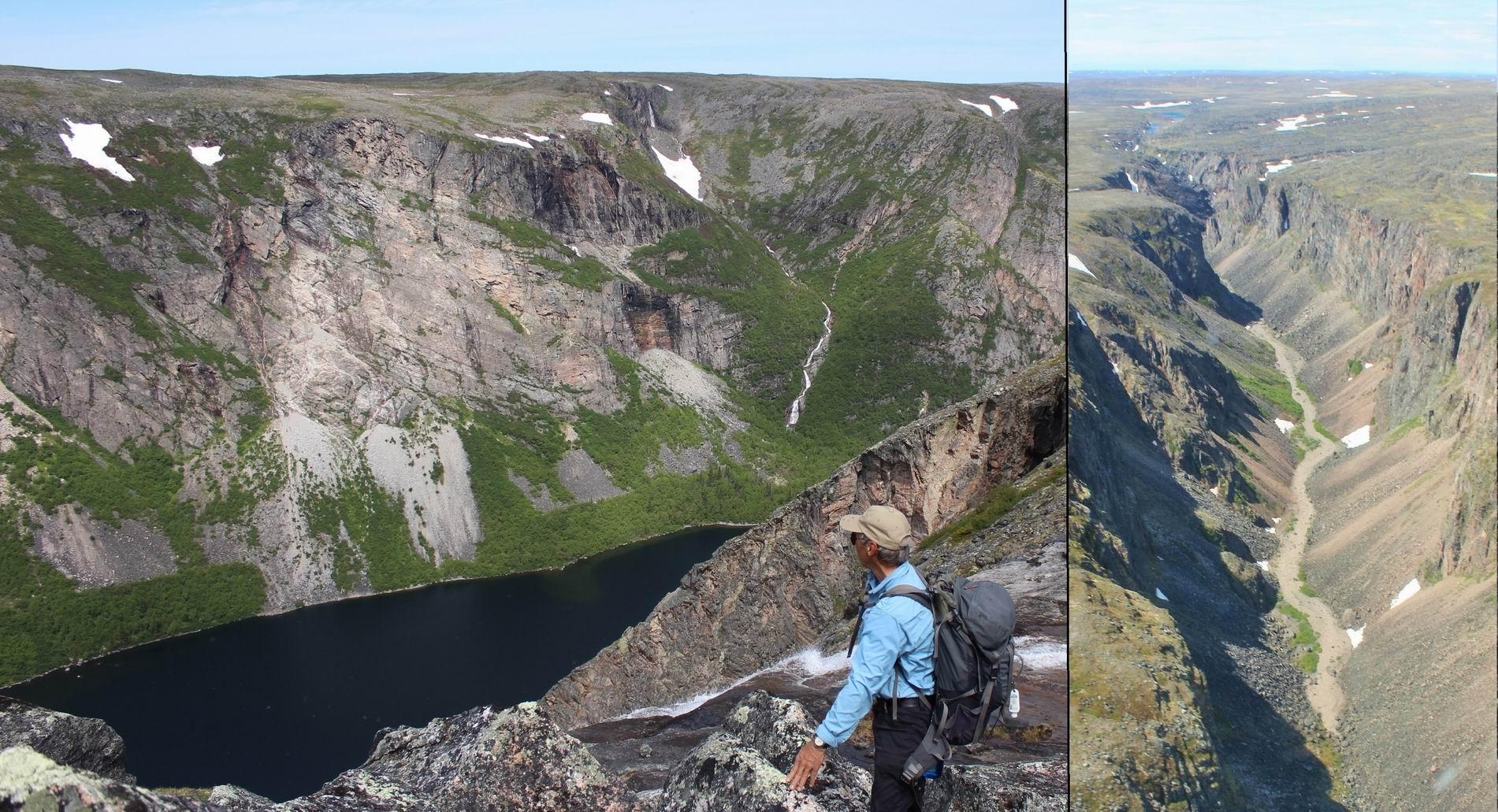Canyon tour near Torngat National Park